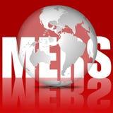 MERS病毒例证 免版税库存图片