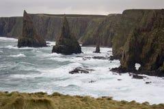 Mers agitées - gruaux de John O - l'Ecosse image libre de droits