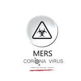 MERS corona virus influenza. Disease Stock Image