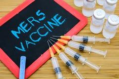 MERS-Covschutzimpfungskonzept Lizenzfreies Stockfoto