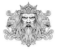 Mers de roi avec des gardes illustration stock