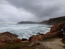 Mers orageuses photos libres de droits