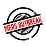 Mers Outbreak rubber stamp. Grunge design with dust scratches. Effects can be easily removed for a clean, crisp look. Color is easily changed Royalty Free Stock Photos