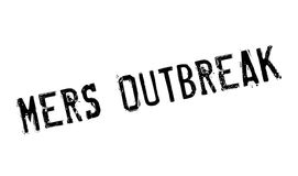 Mers Outbreak rubber stamp Royalty Free Stock Image