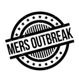 Mers Outbreak rubber stamp. Grunge design with dust scratches. Effects can be easily removed for a clean, crisp look. Color is easily changed Royalty Free Stock Photography