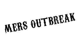 Mers Outbreak rubber stamp Royalty Free Stock Photography