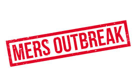 Mers Outbreak rubber stamp Stock Photo