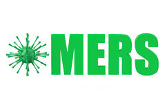 MERS virus concept Royalty Free Stock Photography