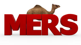 MERS virus Royalty Free Stock Photo