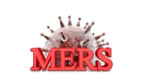 MERS virus epidemic alert medicinal background Royalty Free Stock Photography