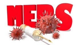 MERS virus epidemic alert medicinal background Stock Image