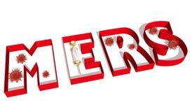 MERS virus epidemic alert medicinal background Stock Photos