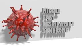 MERS virus epidemic alert medicinal background Stock Images