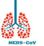 Mers virus respiratory pathogens Stock Photo