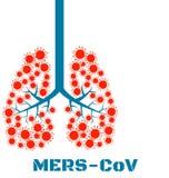 Mers virus respiratory pathogens Stock Photo
