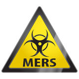 MERS virus warning sign. MERS Middle East respiratory syndrome virus warning sign Stock Photo