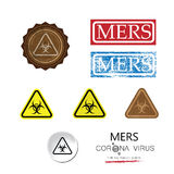 MERS warning sign retro vintage Stock Photography
