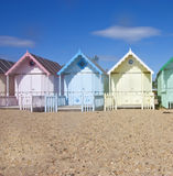 Mersea beach huts Stock Photography