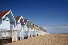 Mersea beach huts Stock Photography