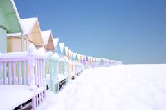 Mersea im Schnee Stockbild