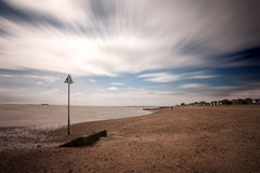 Mersea sea and cloudscape Royalty Free Stock Images