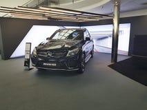Mersedes för bil för stil för presentation Ukraina Kiev Januari 21, 2018 för ny presentationsdesign modern elegant Benz, i visnin arkivfoton
