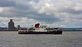 Mersey轮渡,利物浦,英国 免版税图库摄影