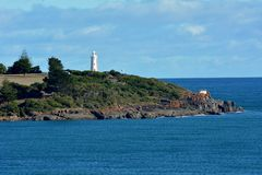 Mersey Bluff Lighthouse Devonport Tasmania, Australia. Mersey Bluff Lighthouse at the mouth of the Mersey River in Devonport Tasmania, Australia royalty free stock images