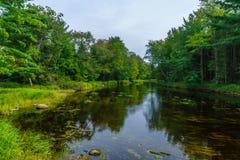 Mersey-Fluss, in Nationalpark Kejimkujik lizenzfreies stockbild