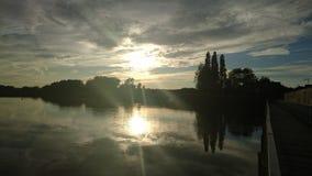 Mersey-Fluss, Warrington lizenzfreie stockfotos