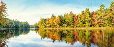 Mersey river in fall Royalty Free Stock Photo