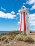 Mersey-T?uschungs-Leuchtturm in Tasmanien stockfotografie