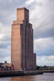 Mersey-Tunnellüftungs-Turm in Birkenhead, England lizenzfreie stockfotos