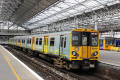 Merseyrail electric train in Southport station Stock Images