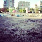海滩mersin 免版税库存图片