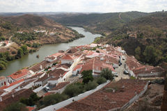 Mertola. Is a municipality in southeastern Portugal next to the Spanish border Stock Image