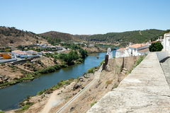 Mertola and Guadiana River Stock Photography