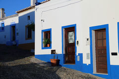 Mertola village street. Typical street in the beautiful village of Mertola, Portugal Royalty Free Stock Photography