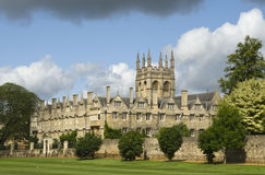 Merton College, Oxford. Viewed on a fresh summers day Royalty Free Stock Photos