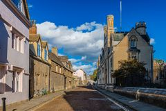 The Merton College in Oxford. stock image