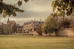 Merton college. A view of Merton college in Oxford, England Royalty Free Stock Image