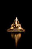 Meru chakra. The pyramid meru chakra on a black background Royalty Free Stock Photo