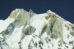Meru peak in Himalayan Stock Image