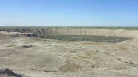 Merv Gyaur e Erk Kala Fortress stock footage