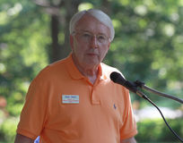 Merv Riepe, District 12, speaking at Tea Party Rally Stock Photos