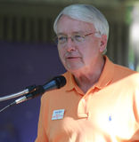 Merv Riepe, District 12, speaks at Tea Party Rally Stock Photography