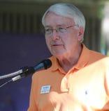 Merv Riepe, distrito 12, fala na reunião do tea party Fotografia de Stock