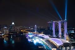 Merveille complètement - la lumière et l'eau montrent, la plus grande exposition de laser dans Asie du Sud-Est Image libre de droits