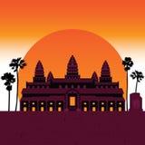 Merveille 7 du temple d'Angkor du monde illustration libre de droits