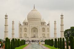 Merveille Taj Mahal de haute plaine photo stock